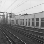 1986-786 Spoorbaan Rotterdam-Dordrecht met baanvak tussen de stations Rotterdam-Zuid en Rotterdam-Centraal, ter hoogte ...