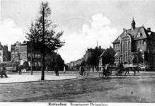 1986-91 Gezicht in de Burgemeester Meineszlaan op de hoek Vierambachtsstraat en Heemraadssingel.