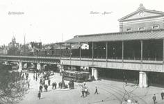 1987-114,-115 Station Beurs aan het Beursplein.Van boven naar beneden afgebeeld:- 114- 115