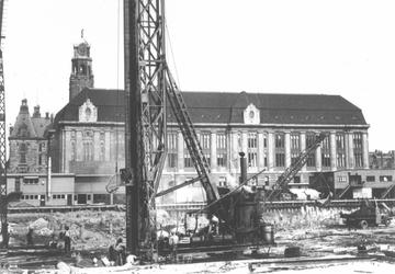 1987-590 Bouw van de Beurs aan de Coolsingel.