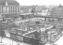 1987-591 Bouw van de Beurs aan de Coolsingel.