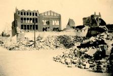 1987-892 Ruïnes na het bombardement van 14 mei 1940. De Baan en omgeving.