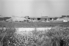 1988-1457 De bouw van de 2e Van Brienenoordbrug aan het Kralingseplein.