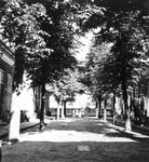 1988-3013 Het Zwaanshals met het nummer 160 1-14, hofje van De Jong, uit noordwestelijke richting gezien.
