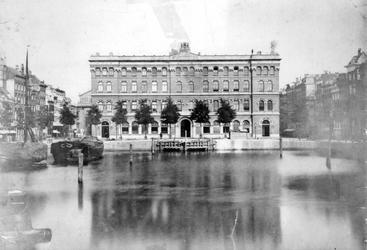 1989-81 De Blaak en het postkantoor aan het Beursplein, gezien vanaf de Keizersbrug.
