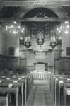 1991-3092,-3093 Interieur van de Waalse kerk aan de Boshoek.Van boven naar beneden afgebeeld:- 3092: Kerkzaal.- 3093: ...
