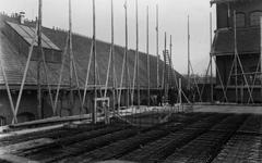 1991-3149-EN-3150 Gezichten op de Schiehaven.Afgebeeld van boven naar beneden:-3149: bouwwerkzaamheden bij het ...