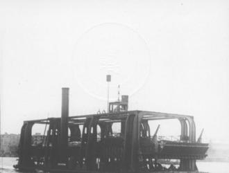 1991-908 Wagenveer op de Nieuwe Maas varende tussen Veerdam en Charlois.