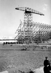1992-195 De Olympiaweg met de bouw van het Feyenoordstadion.