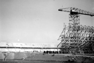 1992-196 De Olympiaweg met de bouw van het Feyenoordstadion.