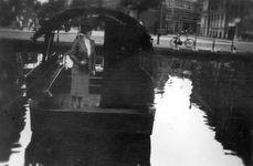 1992-3671 Gezicht op de Rotterdamse Schie. Met veerpont bij de Zomerhofstraat.