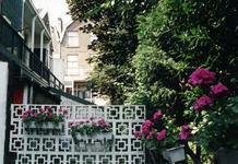 1992-4084 Begroeiing achter de woonhuizen aan de Volmarijnstraat nabij de Claes de Vrieselaan.