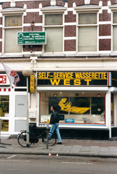 1992-4270 Self-service wasserette West, winkel in de Nieuwe Binnenweg