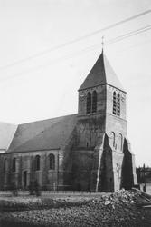 1992-94 Spijkenisse. De 1e Heulbrugstraat met de Nederlands Hervormde kerk.