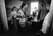 1993-3287 Politie-actie tegen drugsoverlast in de wijk Middelland.