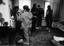 1993-3288 Politie-actie tegen drugsoverlast in de wijk Middelland.