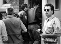 1993-3289 Politie-actie tegen drugsoverlast in de wijk Middelland.