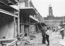 1993-5983 De bouw van de Korte Lijnbaan. Uit westelijke richting gezien.