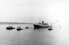1993-6016 De aankomst van het schip Statendam op de Nieuwe Waterweg.