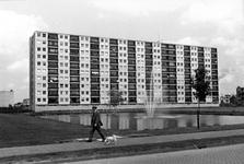 1993-6605 In Spijkenisse aan de Akeleistraat is de Akeleiflat.