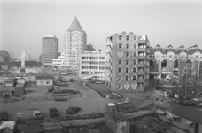 1994-696 Bouw van metro- en treinstation Blaak.Op de voorgrond de Geldersestraat.