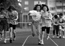 1995-1289 Chinese sportdag., Meer dan 400 kinderen uit Taiwan, Hongkong en Chinese Volkrepubliek houden een sportdag op ...