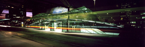 1996-256-TM-260 Station Blaak.Van boven naar beneden afgebeeld:- 256: Ingang van het metrostation, bij avond.- 258: ...