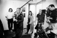 2000-542 19 mei 1998De actrices Linda de Mol en Monique van der Ven tijdens opnamen voor de serie Spangen.