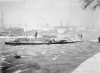 2001-1199 Schepen op de Rotte in de winter