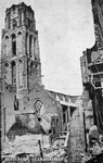 2001-1389-2 Restanten van de Sint-Laurenskerk na het Duitse bombardement van 14 mei 1940. Het exterieur van de Sint ...