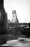 2001-1584 Puinresten van gebouwen als gevolg van het Duitse bombardement van 14 mei 1940. De Gedempte Botersloot met de ...