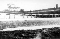 2001-1625 Gezicht op verwoest dok in de Maashaven, veroorzaakt door de Duitse Wehrmacht.