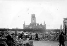 2001-1851 Puinresten van gebouwen als gevolg van het Duitse bombardement van 14 mei 1940. De Botersloot en omgeving met ...