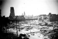 2001-1966 Gezicht op de door het Duitse bombardement van 14 mei 1940 getroffen omgeving van Boerensteiger, uit het ...