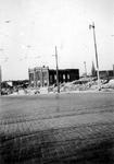 2001-2064 Gezicht op de door het Duitse bombardement van 14 mei 1940 getroffen Hoveniersstraat met een vernielde ...