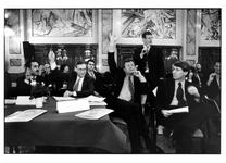 2003-755-1-TM-6 Een debat onder leiding van Peter Schuyten in de Burgerzaal van het stadhuis aan de Coolsingel.
