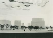 2004-7572 Maquettes van het stadscentrum, periode ca. 1949 tot 1954. De locatie is niet bekend.