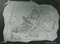2004-7588 Maquette van de wijken Hillegersberg-Noord en Zuid, links de wijk Schiebroek, ca. 1958.