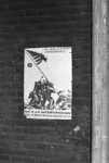 2005-10875 Affiche aan muur van het Poortgebouw met protest tegen interventie van de Verenigde Staten in El Salvador.