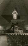 2005-1495 Het interieur van de Prinsekerk met kansel aan de Statensingel van de Nederlands Hervormde Kerk.