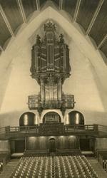 2005-1496 Interieur met orgel in de Prinsekerk aan de Statensingel van de Nederlands Hervormde Kerk.