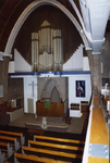 2005-1504 Interieur met orgel in de Nassaukerk van de Gereformeerde Kerk aan de Kleiweg.
