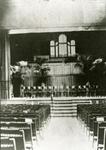 2005-1506 Interieur met orgel in de grote zaal in het Nutsgebouw aan de Oppert, voor het houden van de diensten van de ...