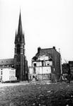 2005-5400 De Goudse Rijweg met de Redemptoristenkerk, rk kerk van de Allerheiligste Verlosser. In het jaar 1979 brand, ...