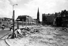2005-5454 De Goudse Rijweg met sloop. Op de achtergrond de Redemptoristenkerk, rk kerk van de Allerheiligste Verlosser. ...