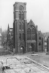 2005-6595 De Goudse Rijweg met het restant van de Kerk van de Allerheiligste Verlosser. In 1979 brand later verbouwd ...