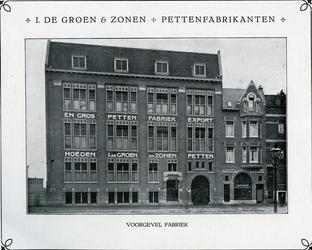 2008-403 Het pand van J. de Groen en Zonen Pettenfabrikanten aan de Middellandstraat 103. Selectie van 3 opnamen uit ...