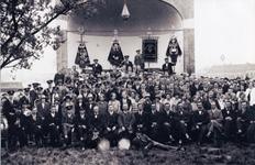 CAPHV-1361 De feestelijke opening van de muziekkapel, die in ongeveer 1928 in de tuin van Jan Oudenaarden aan de ...
