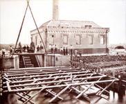 CAPHV-286 De bouw van het stoomgemaal Jan Anne Beijerinck aan de Bermweg 13 in Capelle aan den IJssel.
