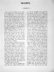 M-544-A Levensbeschrijving van Desiderius Erasmus, humanist.